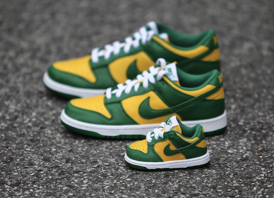 Nike Dunk Low Brazil Family Sizing Left