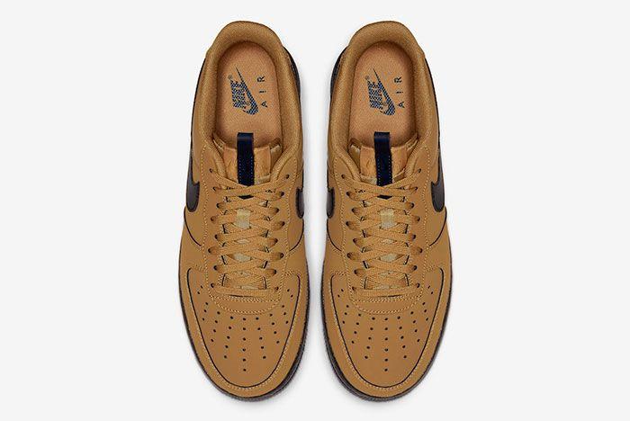 Nike Air Force 1 Low Wheat Black Bq4326 700 Top