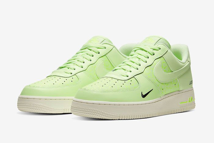 Nike Air Force 1 Low Neon Yellow Ct2541 700 Front Angle