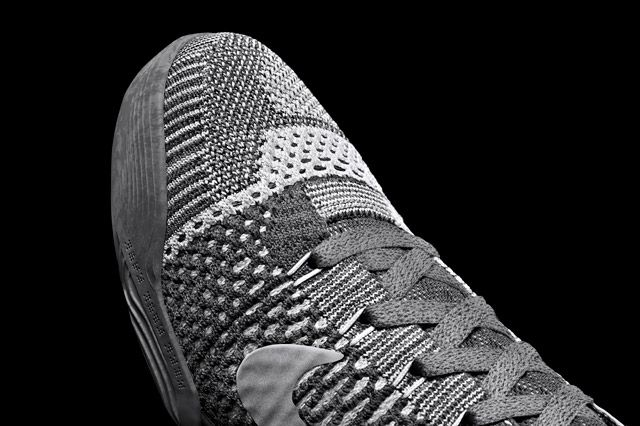 Kobe 9 Whtgry Toebox Detail
