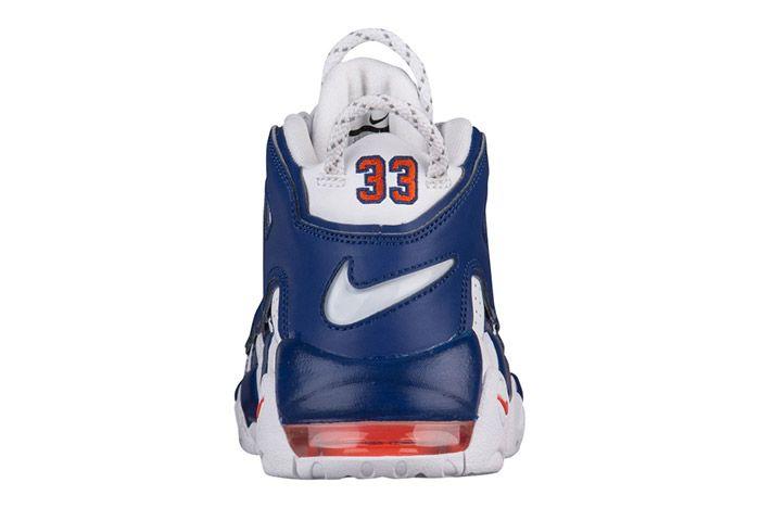 Nike Air More Uptempo White Blue Knicks 4