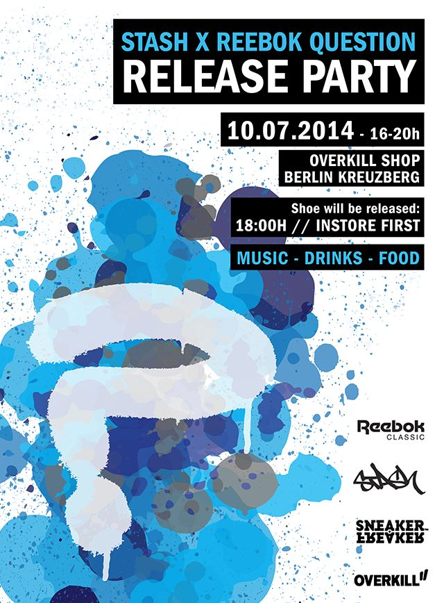 Stash X Reebok Question Launch Party Overkill