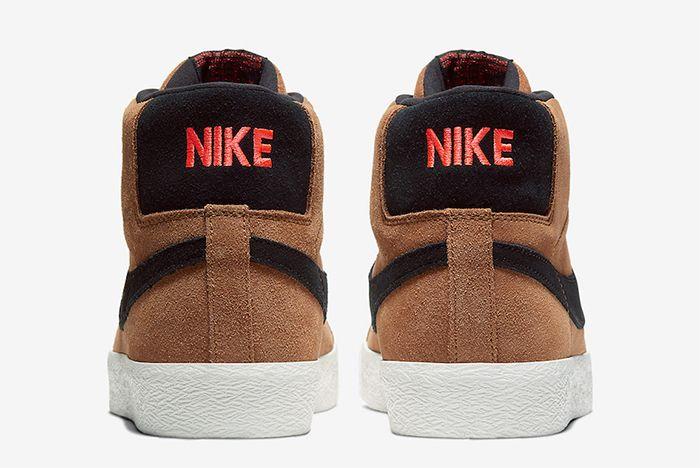 Nike Sb Blazer Mid Light British Tan Heel