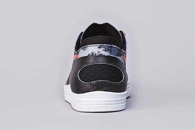 Nike Sb Lunar Oneshot Blk Org Heel