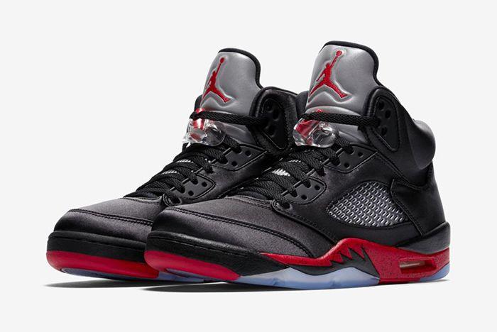 Air Jordan 5 Black Satin Official 1