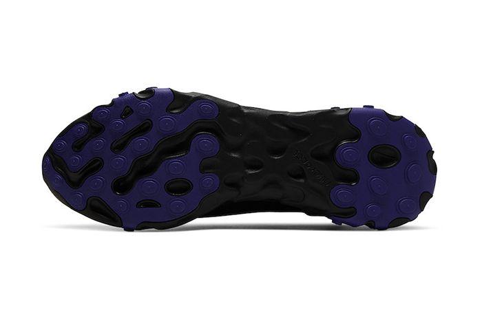Nike React Ianga Black Light Aqua Anthracite Court Purple Av5555 002 Release Date Outsole