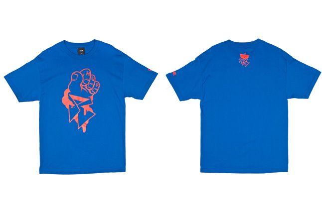 Huf X Remio Tee Blue Frontandback 1