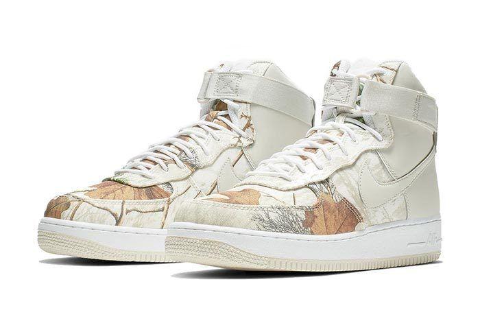 Realtree White Nike Air Force 1 Pair