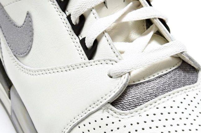 Nike Air Revolution White Grey Lace Detail 1