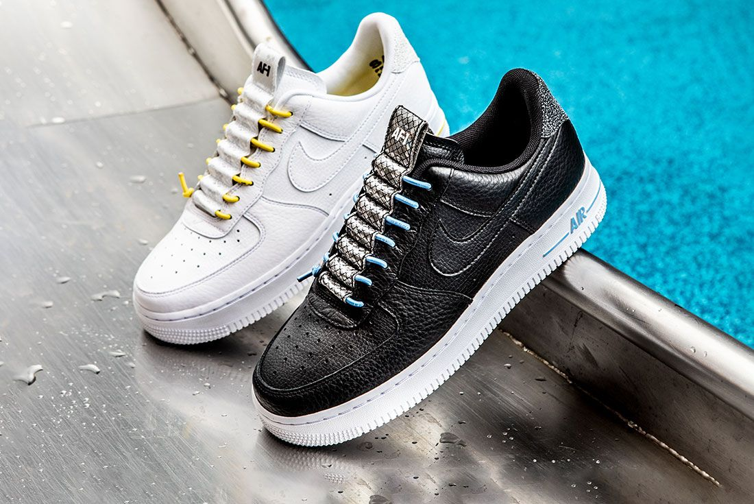 Nike Air Force 1 Womens Refective Black White10 Pair