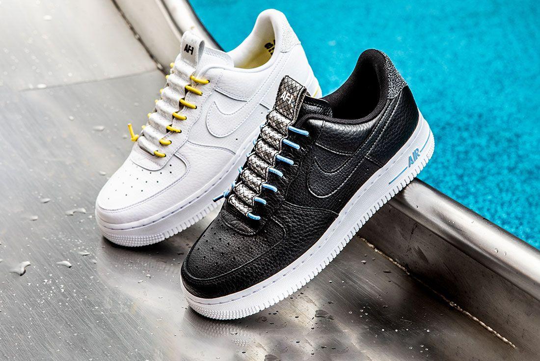Nike Air Force 1 Womens Refective Black White10 Pair