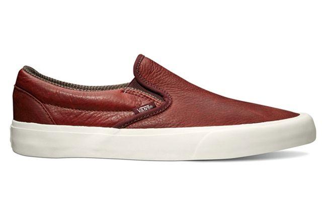 Vans California Collection Classic Slip On Tudor Leather Port Royale Profile 1