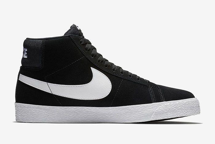 Nike Sb Blazer Mid Black White 3