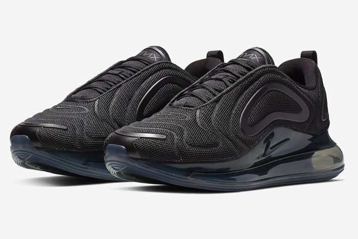 Nike Air Max 720 Triple Black Release Date Front