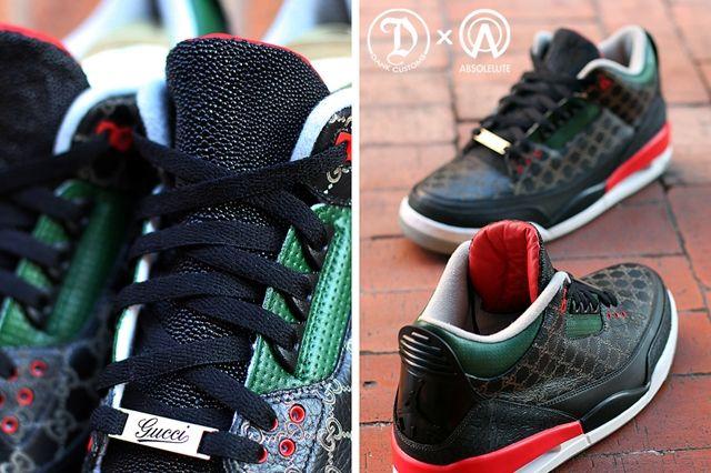 Dank Customs Absoluete Air Jordan 3 Gucci 1