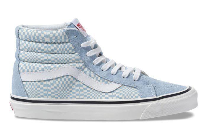 Vans Warp Check Sk8 Hi 38 Blue 3