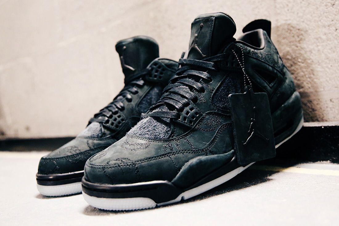 Air Jordan 4 Kaws Black Detail Sneaker Freaker 6