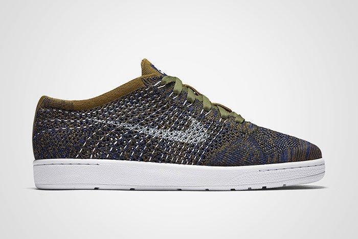 Nike Wmns Tennis Classic Ultra Flyknit Olive Green Blue Thumb