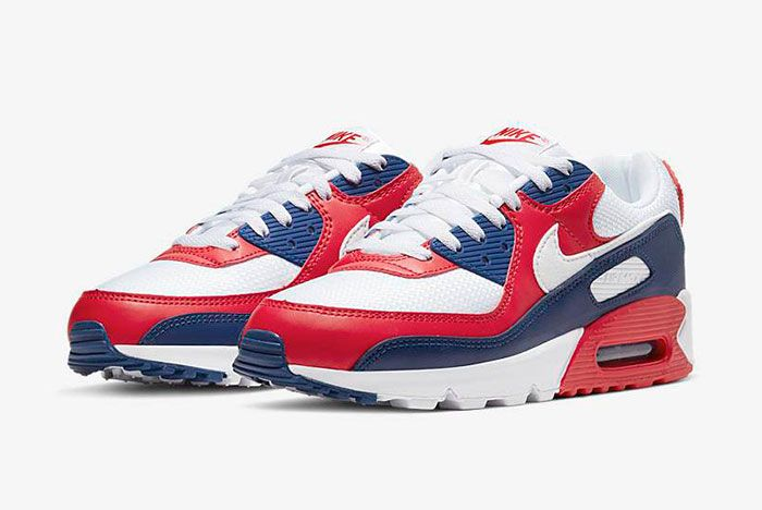 Nike Air Max 90 Cw5456 100 Three Quarter Lateral Side Shot