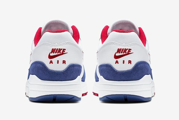 Nike Air Max 1 White Red Blue Cj9927 100 Heel Shot