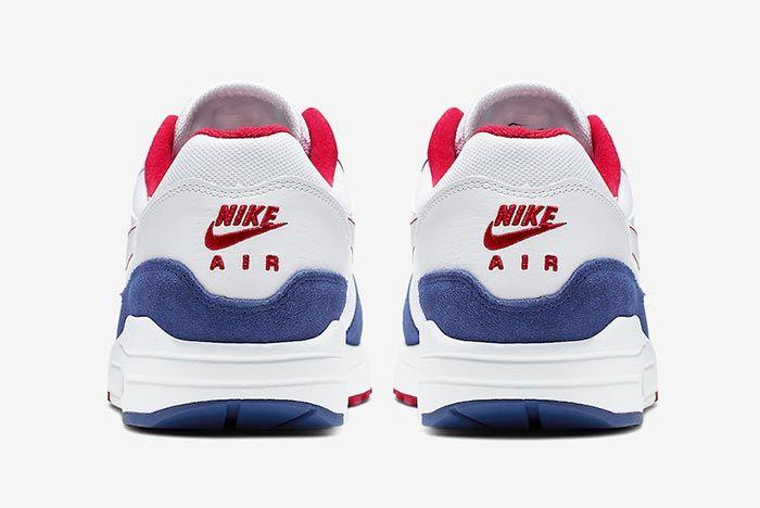 Nike Air Max 1 White Red Blue Cj9927 100 Heel Shot