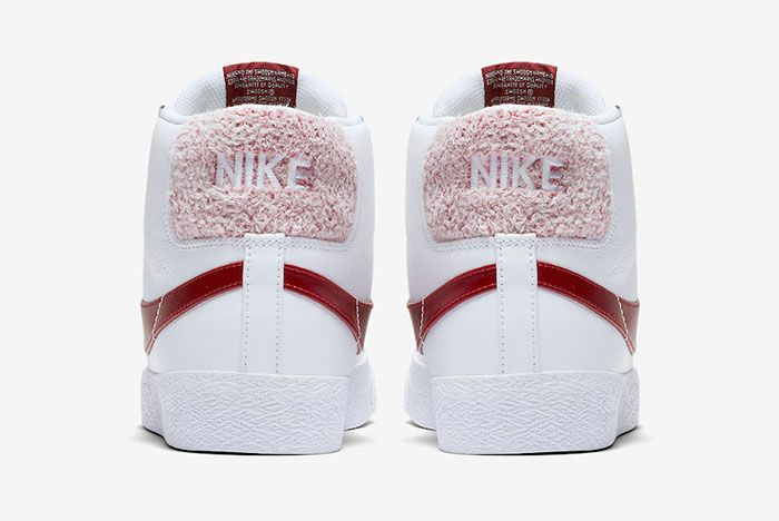 Nike Sb Blazer Team Red Cj6983 101 Release Date 5 Heel
