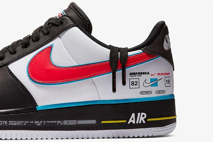 Nike Air Force 1 Racing Ah8462 004 Left Heel Shot