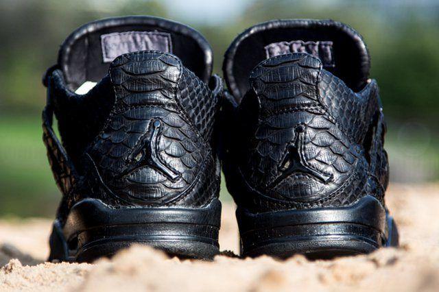 Mc Maggi Custom Air Jordan 4 Black Python Heel Sand
