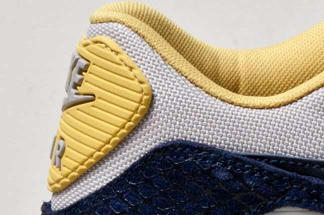 Nike Air Max 90 Yellow Serpent Heel Detail 1