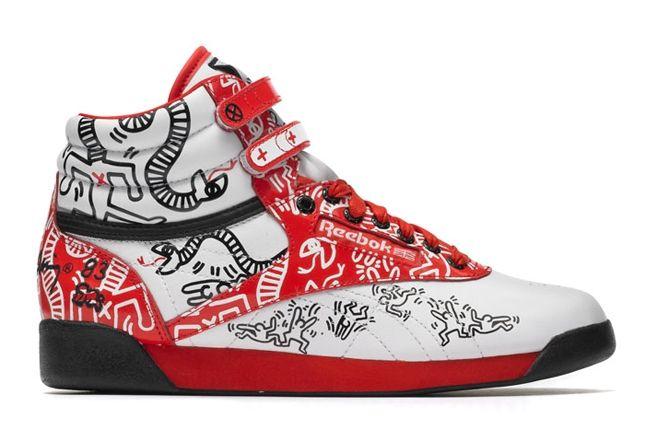 Reebok Keith Haring Freestyle Hi Profile 1