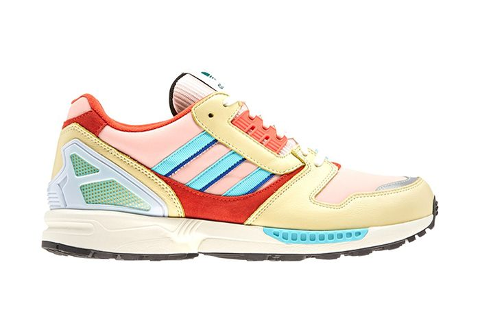 Adidas Zx 8000 Vapour Pink White Turquoise Right