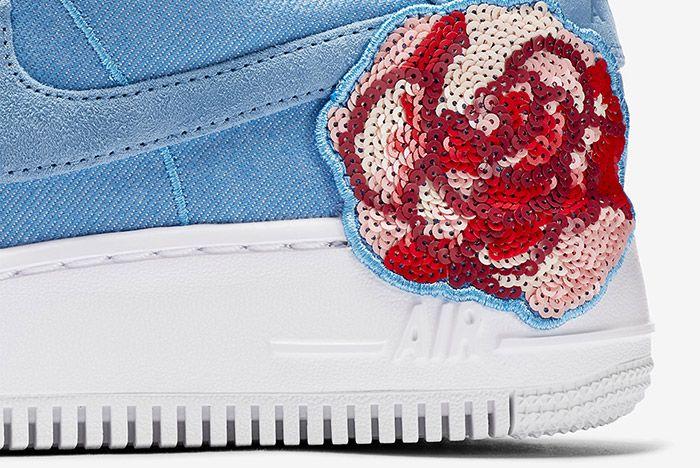Nike Air Force 1 Denim Floral Seqine 4