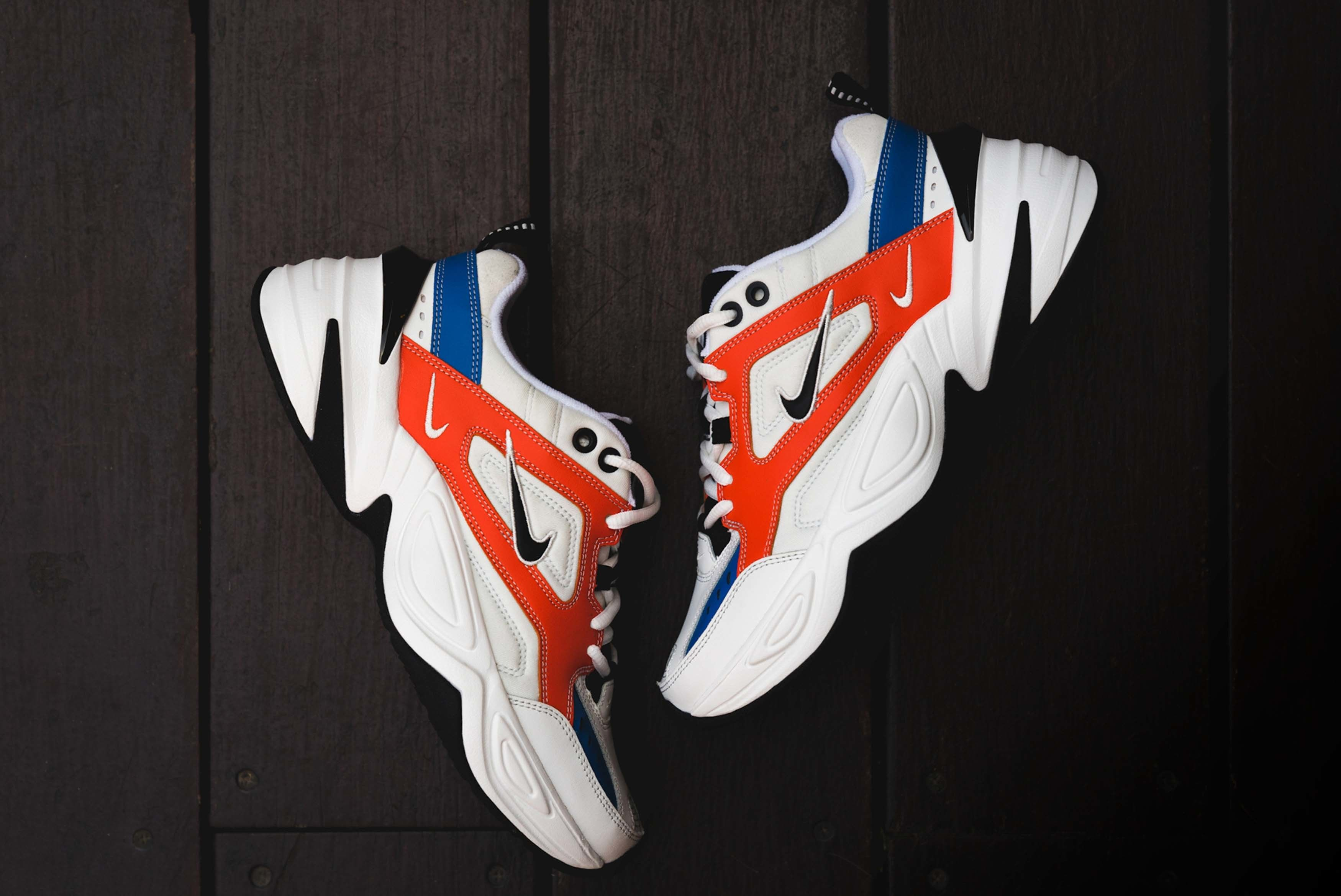 Nike M2K Tekno On Foot White Red Blue Black 1 Sneaker Freaker
