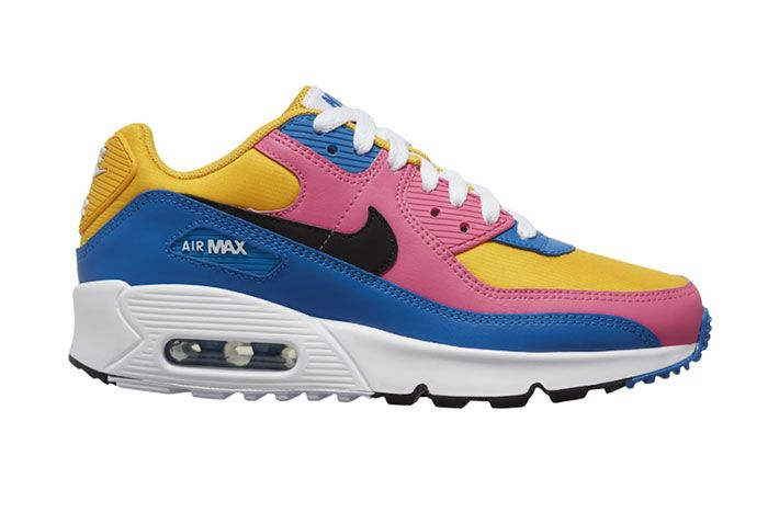 Nike Air Max 90 Pink Blue Yellow Right