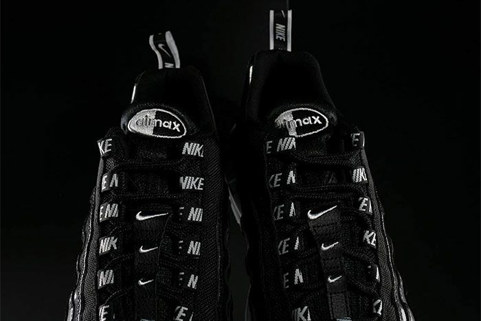 Nike Air Max 95 Black White Overbranding 6