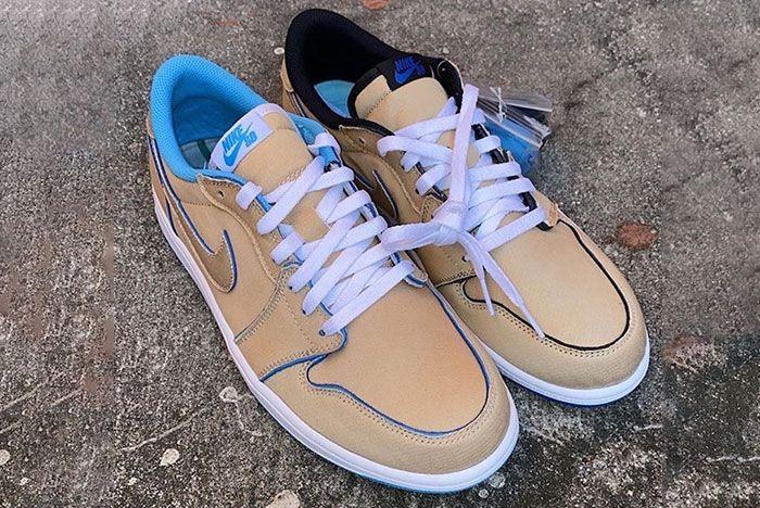 Nike Sb Air Jordan 1 Low Desert Ore Lance Mountain Cj7891 200 Release Date Pair