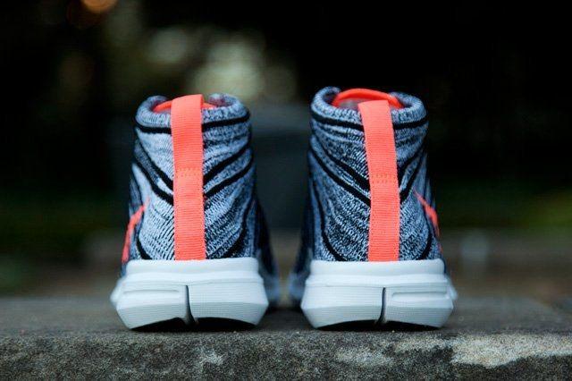 Nike Free Flyknit Chukka Wmns Black Mango 1