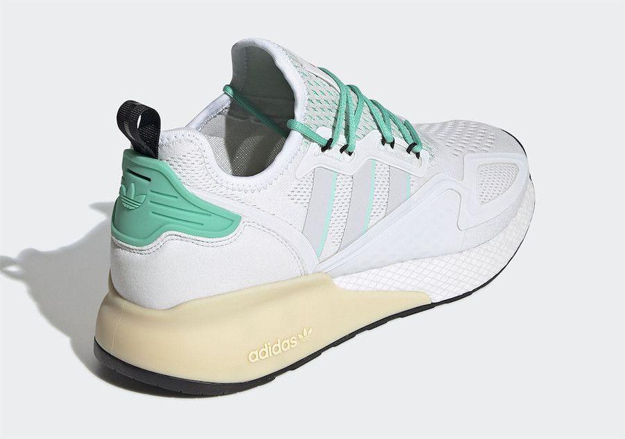 adidas ZX 2K BOOST Hi-Res Green Heel