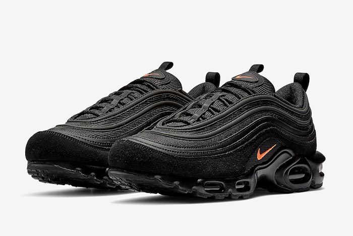 Nike Air Max Plus 97 Black Orange Pair