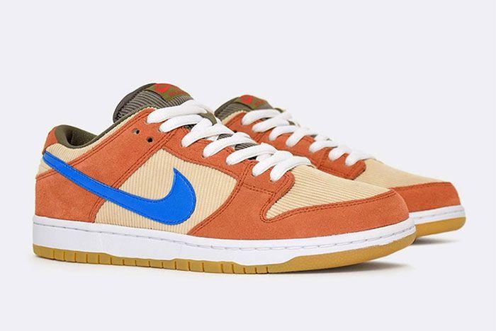 Nike Sb Dunk Low Corduroy Bq6817 201 2 Pair Side