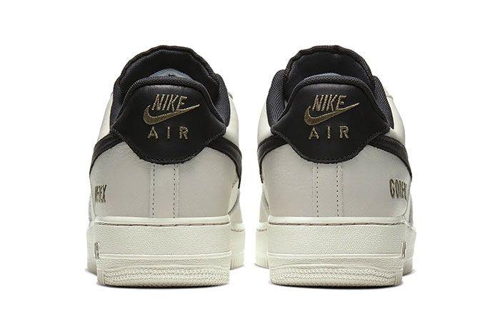 Nike Air Force 1 Gore Tex Light Bone Medium Olive Ck2630 002 Heel