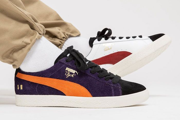 The Hundreds Puma Clyde Decades On Foot Right Lateral