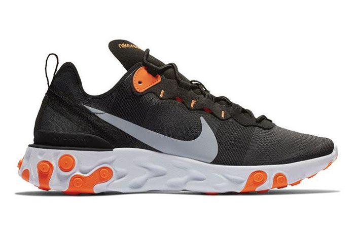 Nike React Element 55 Black Orange 2