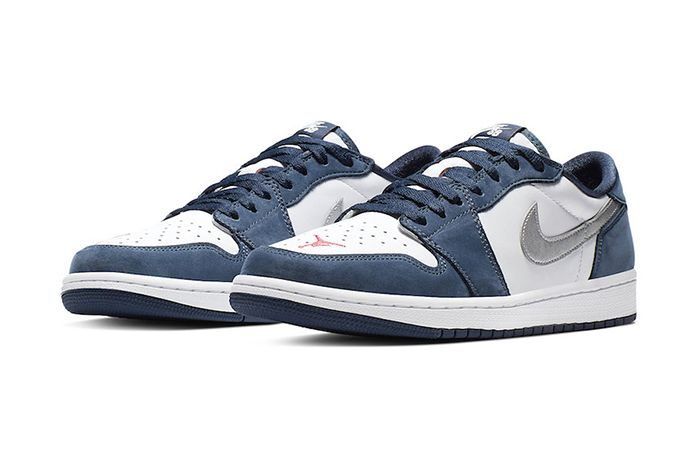 Nike Sb Air Jordan 1 Low Midnight Navy Cj7891 400 Release Date Pair