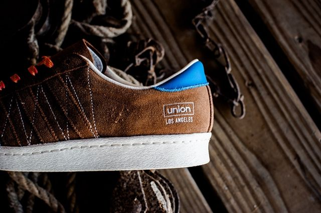 Union Los Angelos X Adidas Adi Super Star 80S Brown Suede Leather 3