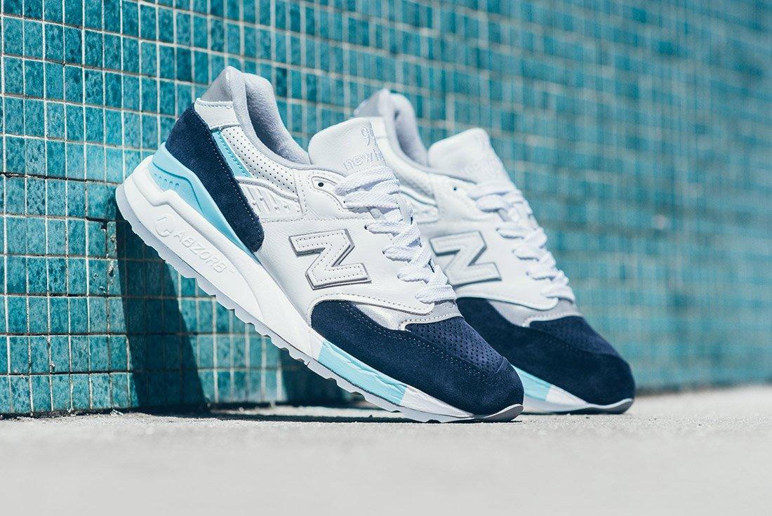 New Balance 998 White Navy Blue 1