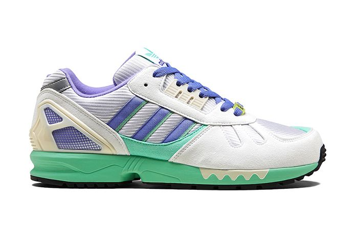 Adidas Zx 7000 White Lilac Green Fu8404 Release Date Lateral