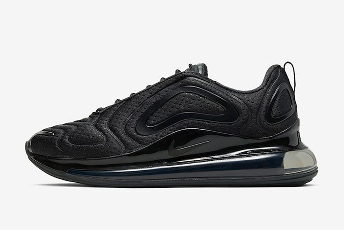 Nike Air Max 720 Black Mesh Left