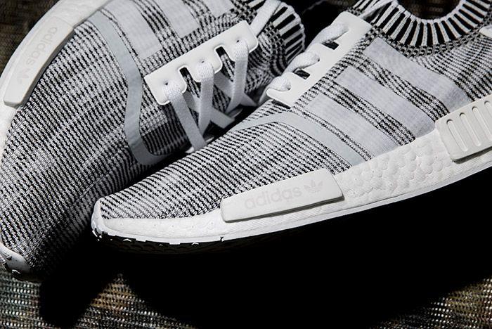 Adidas0 Nmd R1 Primeknit White Linen Khaki Black 4
