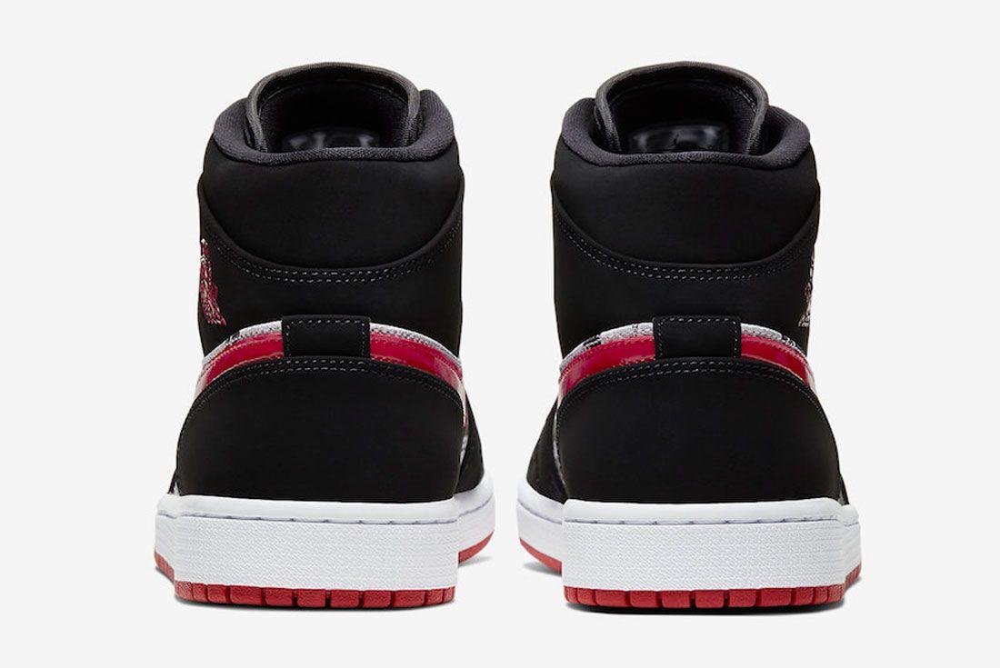 Air Jordan 1 Mid Se Newspaper 852542 061 Release Date 5 Heel